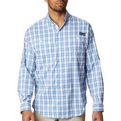 Columbia Mens PFG Super Tamiami Plaid Long Sleeve Shirt