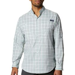 Columbia Mens PFG Super Tamiami Plaid Long Sleeve Shirt