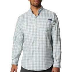 Mens PFG Super Tamiami Plaid Long Sleeve Shirt