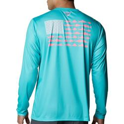 MensLong Sleeve PFG Fish Flag T-Shirt