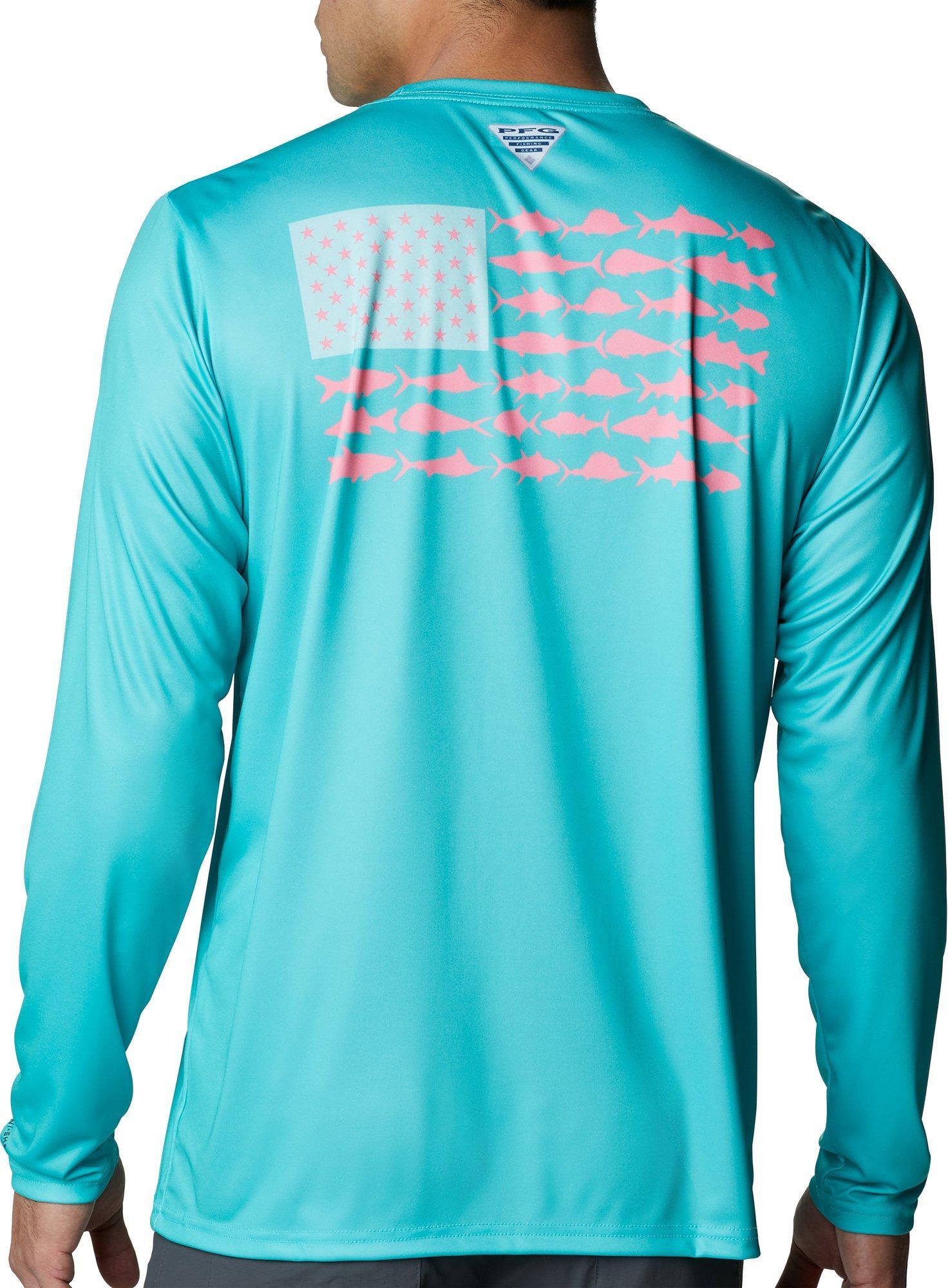 Columbia New PFG Fishing Short Sleeve T-Shirt Men/'s Medium Blue