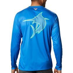 Mens PFG Fish Series Marlin Long Sleeve T-shirt