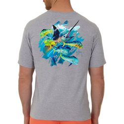 Guy Harvey Mens Off Shore Haul Marlin Short Sleeve T-Shirt
