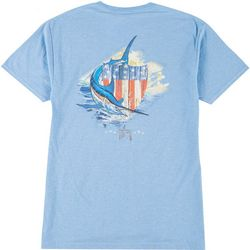 Guy Harvey Mens Patriotic Shield Short Sleeve T-Shirt