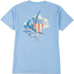 Mens Patriotic Shield Short Sleeve T-Shirt