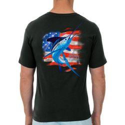 Guy Harvey Mens Water Stripe Short Sleeve T-Shirt