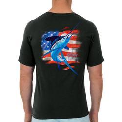 Mens Water Stripe Short Sleeve T-Shirt