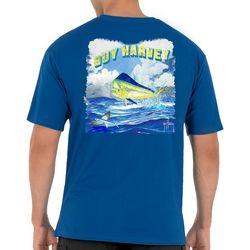 Guy Harvey Mens Jump Mahi Short Sleeve T-Shirt