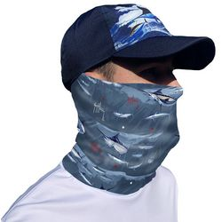 Guy Harvey Mens Blue Marlin Face & Neck