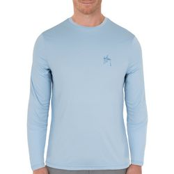 Guy Harvey Mens Solid Sun Long Sleeve T-Shirt