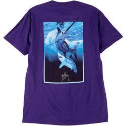 Guy Harvey Mens Sword At Night Short Sleeve T-Shirt