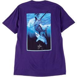 Mens Sword At Night Short Sleeve T-Shirt