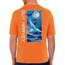 Guy Harvey Mens Mako In The Night Short Sleeve T-Shirt