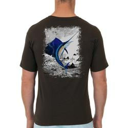 Mens Leaping Sailfish Short Sleeve T-Shirt