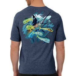 Guy Harvey Mens Offshore Haul Marlin Short Sleeve T-Shirt