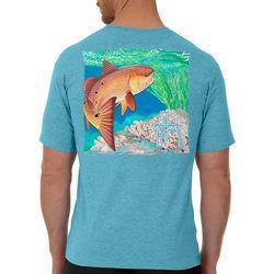 Guy Harvey Mens Inshore Catch Redfish Short Sleeve T-Shirt
