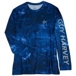Mens All Over Sailfish Print Hooded Shirt