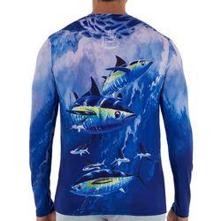 Guy Harvey Mens Flying Tuna Long Sleeve Shirt