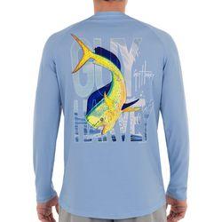 Guy Harvey Mens Dorado Flip Long Sleeve T-Shirt