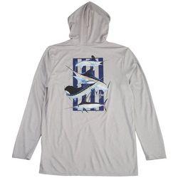 Guy Harvey Mens Super Grand Slam Hooded T-Shirt