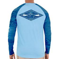 Guy Harvey Mens Reel Tree Diamond Marlin Long Sleeve T-Shirt