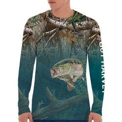 Guy Harvey Mens Lake Edge Long Sleeve T-Shirt