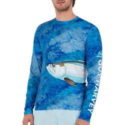 Guy Harvey Mens Camo Tarpon Long Sleeve T-Shirt