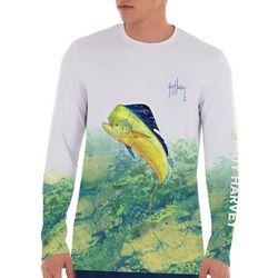 Guy Harvey Mens Camo Leap Long Sleeve T-Shirt