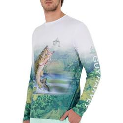 Mens Camo River Light Long Sleeve T-Shirt