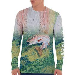 Guy Harvey Mens Camo Trout Long Sleeve T-Shirt
