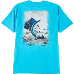 Guy Harvey Mens Leap Sailfish Short Sleeve T-Shirt
