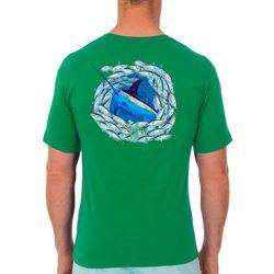 Guy Harvey Mens Swordfish Circle Short Sleeve T-Shirt