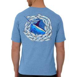 Mens Swordfish Circle Short Sleeve T-Shirt