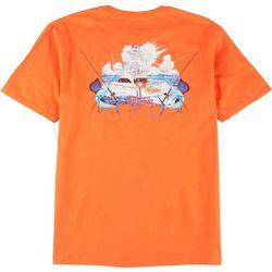 Mens Boat & Swordfish Short Sleeve T-Shirt