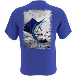Guy Harvey Mens Leaping Sailfish Short Sleeve T-Shirt