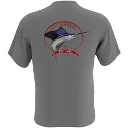 Guy Harvey Mens Core Sailfish Short Sleeve T-Shirt