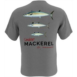 Guy Harvey Mens Smokin' Mackerel Short Sleeve T-Shirt