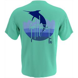 Guy Harvey Mens Marlin Wave Short Sleeve T-Shirt