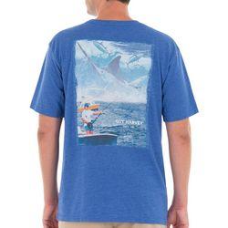 Guy Harvey Mens Dr. Harvey Fish Heathered T-Shirt