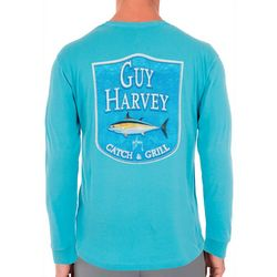 Guy Harvey Mens Adventure Ahead Long Sleeve T-Shirt