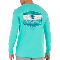 Guy Harvey Mens Sailfish Sunset Long Sleeve T-Shirt