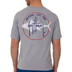 Guy Harvey Mens Circle Marlin Heathered Short Sleeve T-Shirt