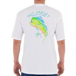 Guy Harvey Mens Scribble Marlin  Short Sleeve T-Shirt