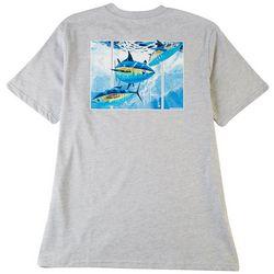 Guy Harvey Mens Offshore Haul Tuna Heathered T-Shirt