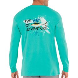 Guy Harvey Mens Art of Adventure Long Sleeve T-Shirt