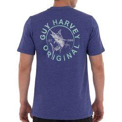 Guy Harvey Mens Circle Marlin Short Sleeve T-Shirt
