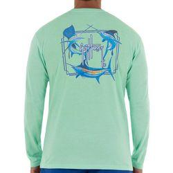 Guy Harvey Mens Core Grand Slam Long Sleeve T-Shirt