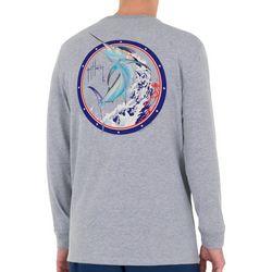 Guy Harvey Mens Spin Cycle Heathered Long Sleeve T-Shirt