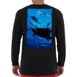 Guy Harvey Mens Digital Sailfish Long Sleeve T-Shirt