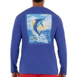 Guy Harvey Mens Sunset Marlin Long Sleeve T-Shirt